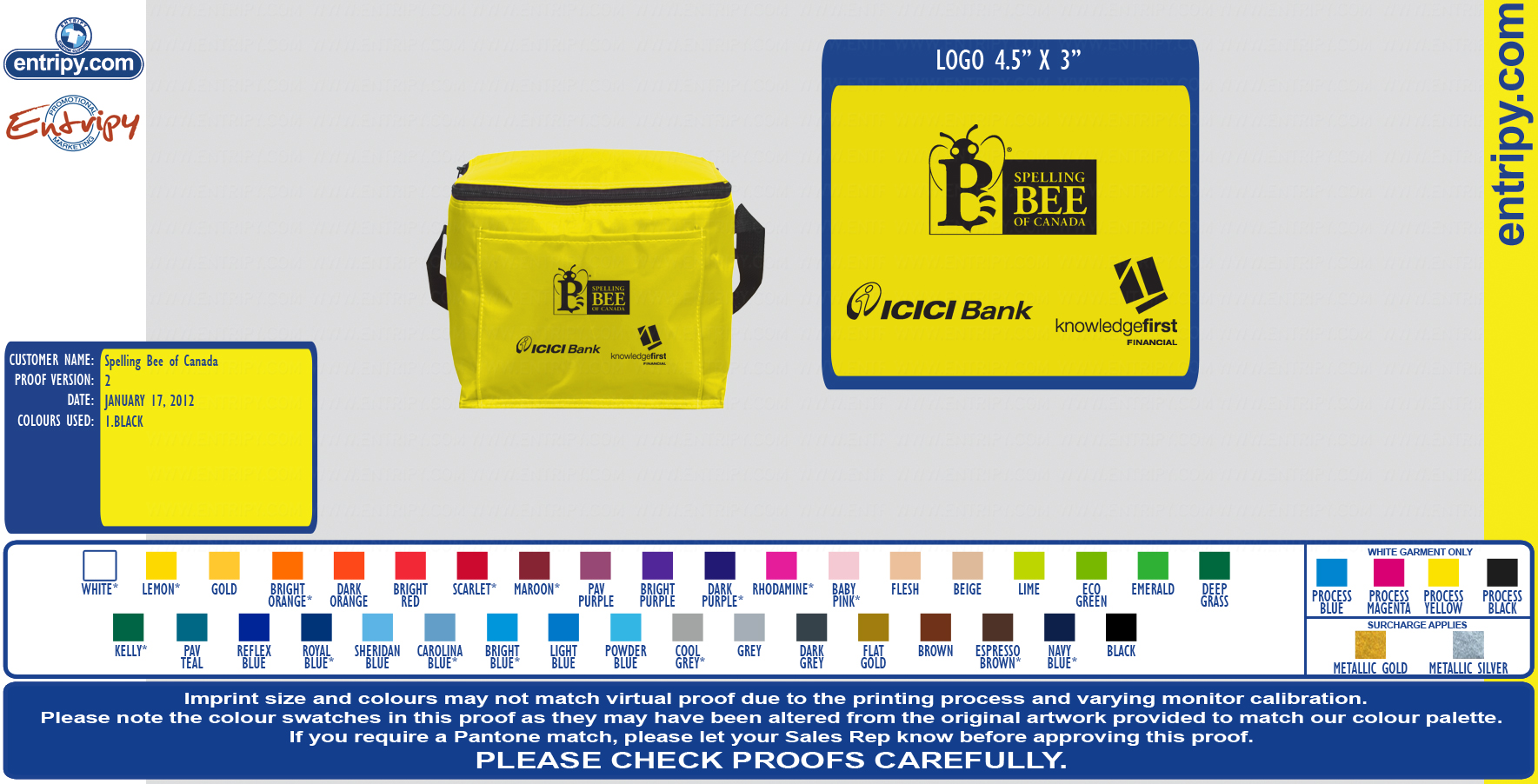 Cooler Lunch Bag  - EPCB4027 BAG